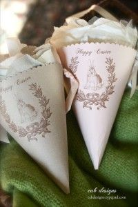 Free Easter Paper Cones with Gift Tag Printables #247moms