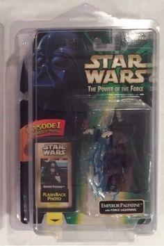 Star Wars POTF Emperor Palpatine w Force Lightning EP1 Flashback Photo   eBay