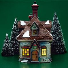 """Department 56: Products - """"W.M. Wheat Cakes & Puddings"""" - View Lighted Buildings"""