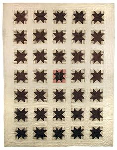 Sawtooth Star quilt by Betsy Baker Mead, New York, and Adelia Mead Vore, Crete, Nebraska. Star Quilt Blocks, Star Quilts, Antique Quilts, Vintage Quilts, Quilting Projects, Quilting Designs, Handmade Quilts For Sale, Nebraska, Traditional Quilts