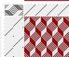draft image: Page Figure Posselt's Textile Journal, October Weaving Designs, Weaving Projects, Weaving Patterns, Knitting Patterns, Paper Weaving, Weaving Textiles, Loom Weaving, Hand Weaving, Dobby Weave