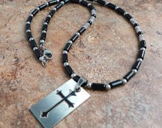 This unique mens necklace features a detailed Trinity Knot Battle Axe Cross pendant, which is made of 316L grade high quality stainless steel in