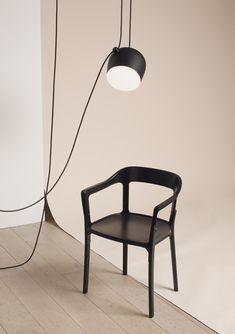 Aim lamp by Ronan and Erwan Bouroullec for Flos with the Magis Steelwood Chair