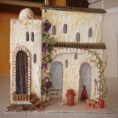 GRUPO DE CASAS RECICLADAS | ARTESANA.... LA WEB. Mini Things, Cardboard Crafts, Belem, Diorama, Nativity, Christmas Decorations, Miniatures, Merry, Scene