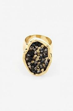 Gold Crystal Statement Ring
