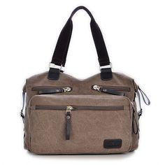 Mens Vintage Canvas Dual Purpose Handbag Shoulder Crossboby Bag