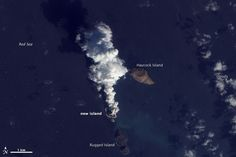 Eruption of a volcano at Zubair Islands, Red Sea, in December 2011 - Birth of a new island.