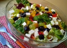 Domowa Cukierenka - Domowa Kuchnia: kolorowa sałatka z roszponką