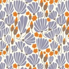 Morning Song Voile - Breezy Floral in Blue