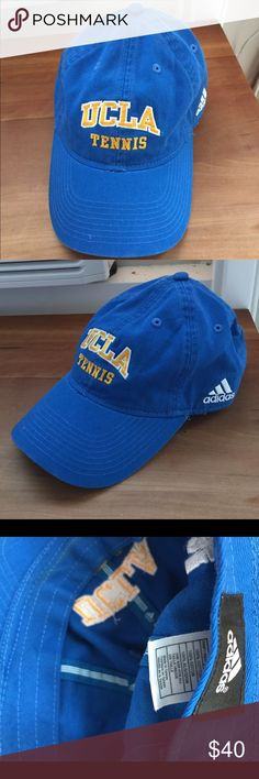 UCLA Tennis 🎾 Hat, Excellent Well Made, Like New! Adidas hat, 100% cotton, fully adjustable, One size fits all. Worn once. In excellent like new condition. Adidas Accessories Hats
