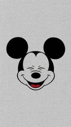 ミッキーマウス/クラシック にっこりiPhone壁紙 iPhone 5/5S 6/6S PLUS SE Wallpaper Background
