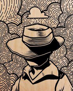 printmaking ideas linoleum In the Storm, Procreate, : Art Lino Art, Woodcut Art, Linocut Prints, Art Prints, Block Prints, Gravure Illustration, Illustration Art, Arte Sketchbook, Art Drawings Sketches