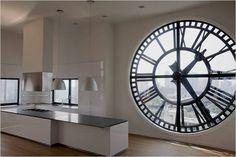 design wand uhr wohnzimmer wanduhr spiegel wandtattoo deko xxl 3d schwarz ideen rund ums haus. Black Bedroom Furniture Sets. Home Design Ideas