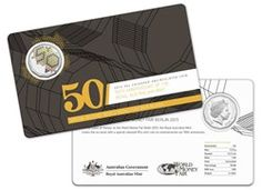 50 Cents - 50th Anniversary of the Royal Australian Mint - Basemetal Coin uncirculated in Color - in Blistercard. AUSTRALIEN 2015  50 Cents - 50 Jahre Royal Australian Mint - Kupfer-Nickel stempelglanz in Farbe - in Blisterkarte.
