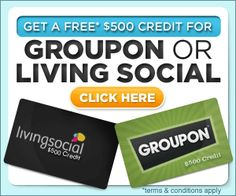 Free Gift Voucher for Groupon or Living Social (US)