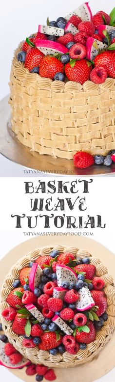 Basket Weave Cake Tutorial - Tatyanas Everyday Food