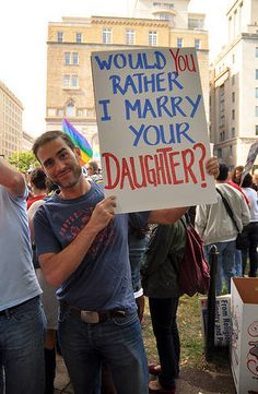Would you rather I marry your daughter? EQUALITY