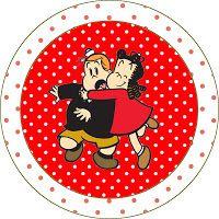 """Imprimés Thème """"Petite Lulu"""" : http://fazendoanossafesta.com.br/2012/08/luluzinha-e-bolinha-kit-completo-com-molduras-para-convites-rotulos-para-guloseimas-lembrancinhas-e-imagens.html/"""