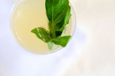 Downton Abbey | Lady Mary Cocktail: Lillet blanc, Champagne, Lime juice, Basil
