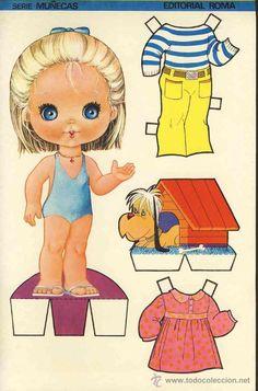 Coleccion completa 10 recortables muñecas EXTRA RECORTE Ed.Roma. Doble hoja cartulina (v.fotos adic) - Foto 3