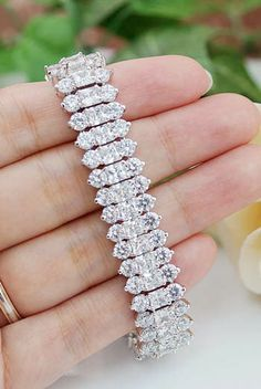 Luxury Cubic Zirconia Bridal Bracelet from EarringsNation