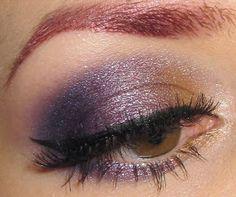 Beige and purple eye makeup tutorial