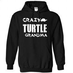 Crazy Turtle grandma - 1015 - #short sleeve sweatshirt #cool shirt. CHECK PRICE => https://www.sunfrog.com/LifeStyle/Crazy-Turtle-grandma--1015-7056-Black-Hoodie.html?60505