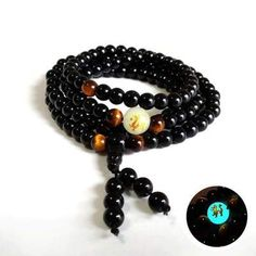 Para mujeres de mala Budista Meditación Curación de madera de cedro collar//pulsera