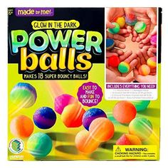 Made by Me Glow-in-the-Dark Power Balls Kit by Horizon Group USA, Multicolor Girls 9th Birthday, Birthday Party Themes, Birthday Ideas, Gifts For Boys, Girl Gifts, Rhode Island Novelty, 9 Year Old Girl, Dark Power, Power Balls