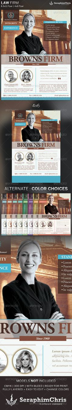 Law Firm: Flyer Template $6.00   This Law Firm: Flyer Template is customized for Law Firms and private practices. This design can also be used for multiple purposes.