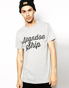 Abandon Ship T-Shirt with Script Logo