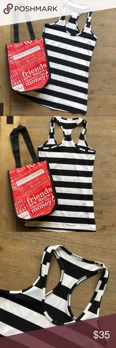 🆕✨lululemon✨ | Cool Racerback Tank | Size 6 🌿lululemon athletica Cool Racerback Striped Tank Top •Discontinued print! Black + white striped •perfect like new condition! •Last pic shows the other 2 lulu tanks in my closet! 🌸BUNDLE FOR 10% OFF🌸 lululemon athletica Tops Tank Tops