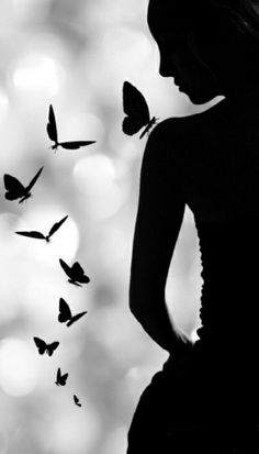 Black Butterfly Girl