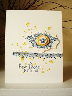 Stampin' Up gorgeous grunge and stamp like music notes wheel.
