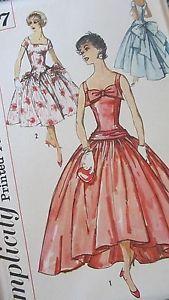 Cocktail Dress Vintage Sewing Pattern 2687 Simplicity Size 14 Bust 34 Hip 36 Cut | eBay