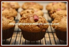 Apple Rhubarb Muffins Recipe! Use FRESH or FROZEN Rhubarb.