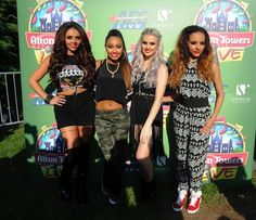 Little Mix are a British four-piece girl group 2011. They were formed exclusively for the eighth series of The X Factor, where they became the first group entry to win in the programme's eight-year history. Following their victory, they signed with Simon Cowell's record label Syco Records. The group subsequently signed in the United States with Columbia Records. Little Mix have been branded the next Spice Girls as well as the UK's next biggest girl group capable of international success.