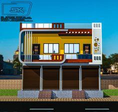 House Outer Design, House Arch Design, Single Floor House Design, Temple Design For Home, 2 Storey House Design, House Outside Design, Village House Design, Bungalow House Design, Indian House Exterior Design