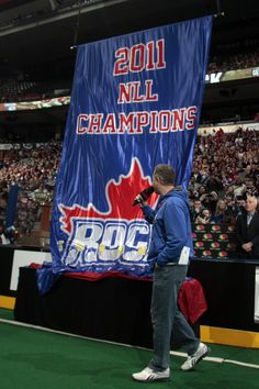 A beautiful sight at Air Canada Centre. ( We were there for this in our seasons' seats. GO ROCK GO ! Toronto Rock, Air Canada Centre, Lacrosse, Champion, Fan, Seasons, Sports, Beautiful, Hs Sports
