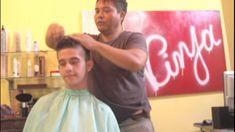 Corte de cabelo Desfiado - Com Tesoura Dentada - Cabelo Masculino