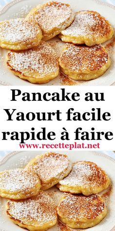 Recette Pancake au Yaourt facile rapide à faire - The Best Breakfast and Brunch Spots in the Twin Cities - Mpls. Pancake Recipe With Yogurt, Yogurt Pancakes, Pancakes Easy, Yogurt Recipes, Yogurt Breakfast, Yogurt Cake, Easy Desserts, Dessert Recipes, Dinner Recipes
