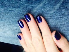 Manicure french blue&black