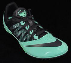 Womens Nike Zoom Rival S7 Sprinters Track Spikes Size 10 Green /Dark Gray #Nike #SprintersTrackSpikes