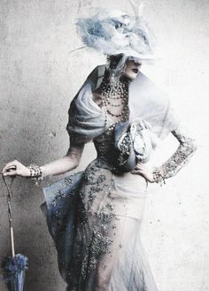 Stella Tennant. Christian Dior Haute Couture S/S 2005. Photo: Patrick Demarchelier for Vogue Russia, June 2011 ('Inspiration Dior').