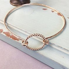 Beaded Bangle dainty bangle delicate minimal bangle thin