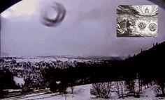 """UFO """"The wheel of Ezekiel"""" in the sky over Hessdalen, Norway?"""