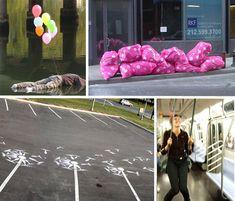 http://weburbanist.com/2009/06/14/20-subversive-works-of-urban-guerrilla-street-art/
