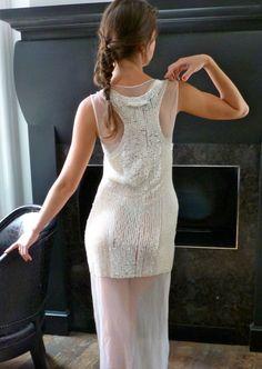 Gaultier Goddess  Column Evening Dress Gown by PublicCoutureLtd