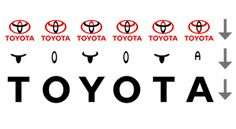 Hidden Message -- The three ellipses that are found in the logo for Toyota represent three hearts: the heart of the customer, the heart of the product, and the heart of progress in the field of technology. But everyone knows that by now. What some people don't notice is pictured here, which is simply genius.