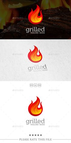 Fire Logo Template PSD, Vector EPS, AI #design #logotype Download: http://graphicriver.net/item/fire-logo/10734519?ref=ksioks